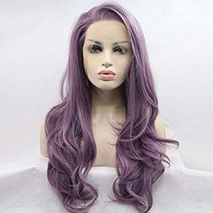 "🦄Lollipop Purple 24"" LACEFRONT Wig *NWT*"